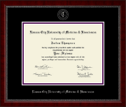 Kansas City University of Medicine and Biosciences Diploma Frame - Silver Embossed Diploma Frame in Sutton