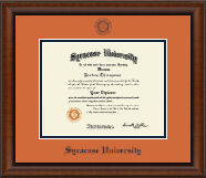 Syracuse University Diploma Frame - Navy Embossed Diploma Frame in Austin