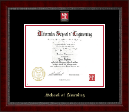 Milwaukee School of Engineering Diploma Frame - MSOE Nursing Masterpiece Medallion Diploma Frame in Sutton
