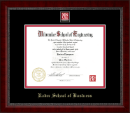 Milwaukee School of Engineering Diploma Frame - MSOE Business Masterpiece Medallion Diploma Frame in Sutton