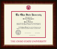 The Ohio State University Diploma Frame - Dimensions Diploma Frame in Murano