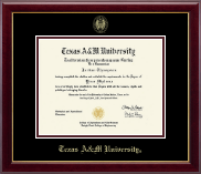 Texas A&M University Diploma Frame - Gold Embossed Diploma Frame in Gallery