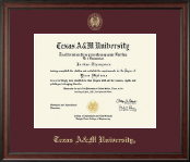 Texas A&M University Diploma Frame - Gold Embossed Diploma Frame in Studio