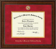 University of Maryland, Baltimore County Diploma Frame - Presidential Masterpiece Diploma Frame in Madison