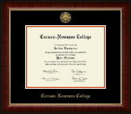 Carson-Newman College Diploma Frame - Gold Engraved Medallion Diploma Frame in Murano
