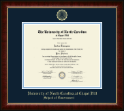 University of North Carolina Chapel Hill Diploma Frame - Gold Embossed Diploma Frame in Murano