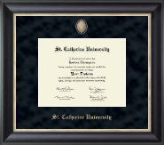 St. Catherine University Diploma Frame - Regal Edition Diploma Frame in Noir