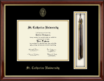 St. Catherine University Diploma Frame - Tassel Edition Diploma Frame in Southport Gold