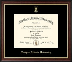 Northern Illinois University Diploma Frame - Gold Embossed Diploma Frame in Studio Gold