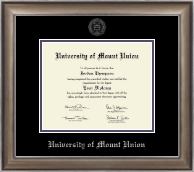 University of Mount Union Diploma Frame - Silver Embossed Diploma Frame in Easton