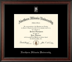 Northern Illinois University Diploma Frame - Silver Embossed Diploma Frame in Studio