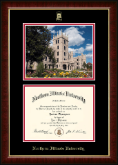Northern Illinois University Diploma Frame - Campus Scene Diploma Frame in Murano