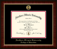 Northern Illinois University Diploma Frame - Gold Engraved Medallion Diploma Frame in Murano