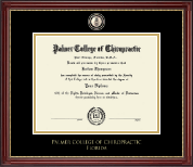Palmer College of Chiropractic Florida Diploma Frame - Masterpiece Medallion Diploma Frame in Kensington Gold
