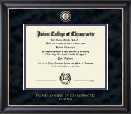 Palmer College of Chiropractic Florida Diploma Frame - Masterpiece Medallion Diploma Frame in Noir