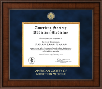 American Society of Addiction Medicine Certificate Frame - Presidential Masterpiece Certificate Frame in Madison
