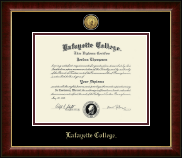 Lafayette College Diploma Frame - Gold Engraved Medallion Diploma Frame in Murano
