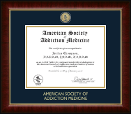 American Society of Addiction Medicine Certificate Frame - Masterpiece Medallion Certificate Frame in Murano