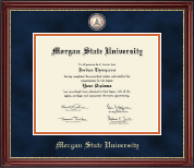 Morgan State University Diploma Frame - Masterpiece Medallion Diploma Frame in Kensington Gold