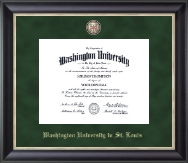 Washington University in St. Louis Diploma Frame - Regal Edition Diploma Frame in Noir
