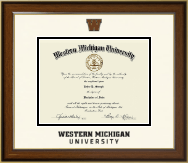 Western Michigan University Diploma Frame - Dimensions Diploma Frame in Westwood
