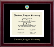 Northern Michigan University Diploma Frame - Masterpiece Medallion Diploma Frame in Gallery