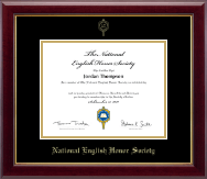 National English Honor Society Certificate Frame - Gold Embossed Certificate Frame in Gallery