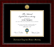 National English Honor Society Certificate Frame - Gold Engraved Medallion Certificate Frame in Sutton