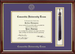 Concordia University Texas Diploma Frame - Tassel Edition Diploma Frame in Southport Gold