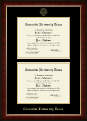 Concordia University Texas Diploma Frame - Double Diploma Frame in Murano