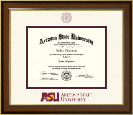 Arizona State University Diploma Frame - Dimensions Diploma Frame in Westwood