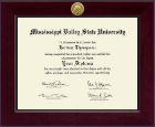 Mississippi Valley State University Diploma Frame - Century Gold Engraved Diploma Frame in Cordova