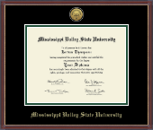 Mississippi Valley State University Diploma Frame - Gold Engraved Medallion Diploma Frame in Kensit Gold