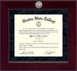 Boston State College Diploma Frame - Millennium Gold Engraved Diploma Frame in Cordova