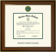 Boston State College Diploma Frame - Dimensions Diploma Frame in Westwood