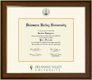Delaware Valley University Diploma Frame - Dimensions Diploma Frame in Westwood