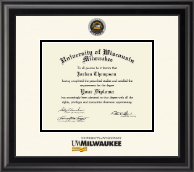 University of Wisconsin-Milwaukee Diploma Frame - Dimensions Diploma Frame in Midnight