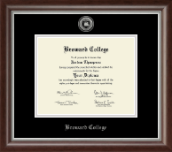 Broward College Diploma Frame - Silver Engraved Medallion Diploma Frame in Devonshire