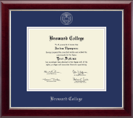 Broward College Diploma Frame - Silver Embossed Diploma Frame in Gallery Silver