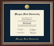 Morgan State University Diploma Frame - 23K Medallion Diploma Frame in Hampshire