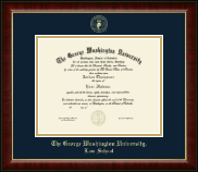 The George Washington University Diploma Frame - Gold Embossed Diploma Frame in Murano