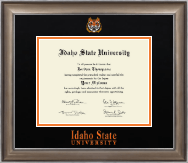 Idaho State University Diploma Frame - Dimensions Diploma Frame in Easton