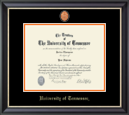 The University of Tennessee Knoxville Diploma Frame - Masterpiece Medallion Diploma Frame in Noir