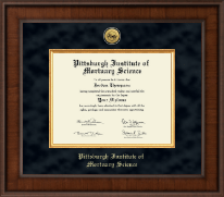 Pittsburgh Institute of Mortuary Science Diploma Frame - Presidential Gold Engraved Diploma Frame in Madison