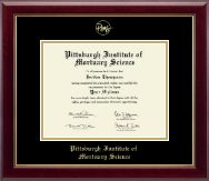 Pittsburgh Institute of Mortuary Science Diploma Frame - Gold Embossed Diploma Frame in Gallery