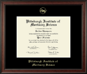 Pittsburgh Institute of Mortuary Science Diploma Frame - Gold Embossed Diploma Frame in Studio