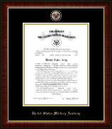 United States Military Academy Certificate Frame - Masterpiece Medallion Commission Certificate Frame in Murano