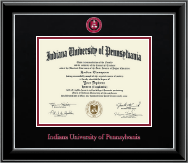 Indiana University of Pennsylvania Diploma Frame - Dimensions Diploma Frame in Onyx Silver