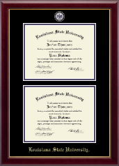 Louisiana State University Diploma Frame - Masterpiece Medallion Double Diploma Frame in Gallery