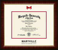 Maryville University of St. Louis Diploma Frame - Dimensions Diploma Frame in Murano